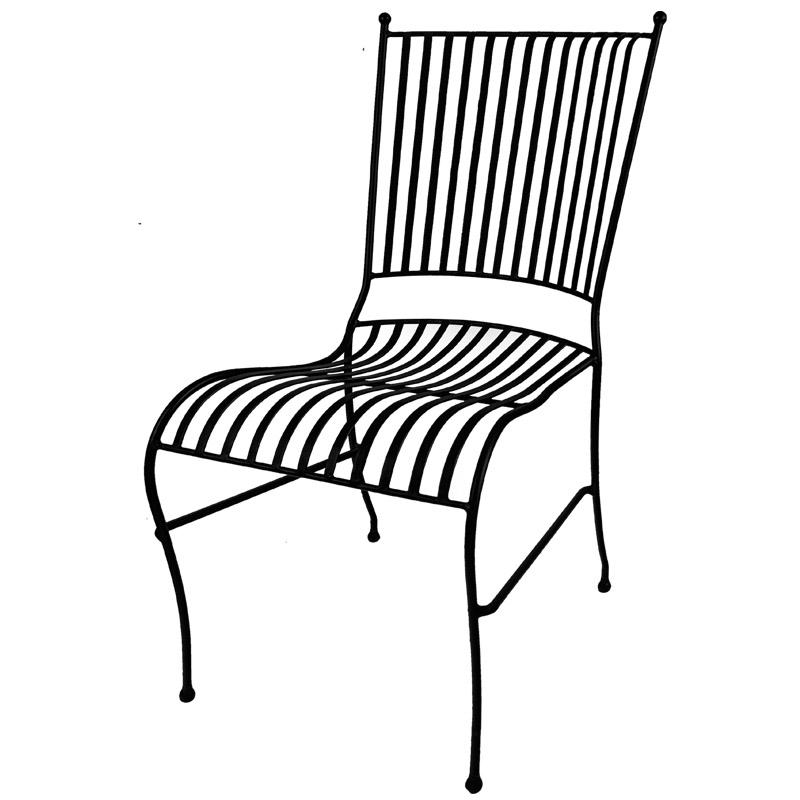 Stol I Smide Svart Apotekarns Pa Svabesholm